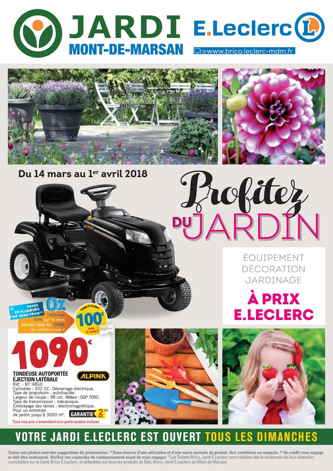 Catalogue Jardin - Jardi E.leclerc By Chou Magazine - Issuu serapportantà Table De Jardin Magasin Leclerc