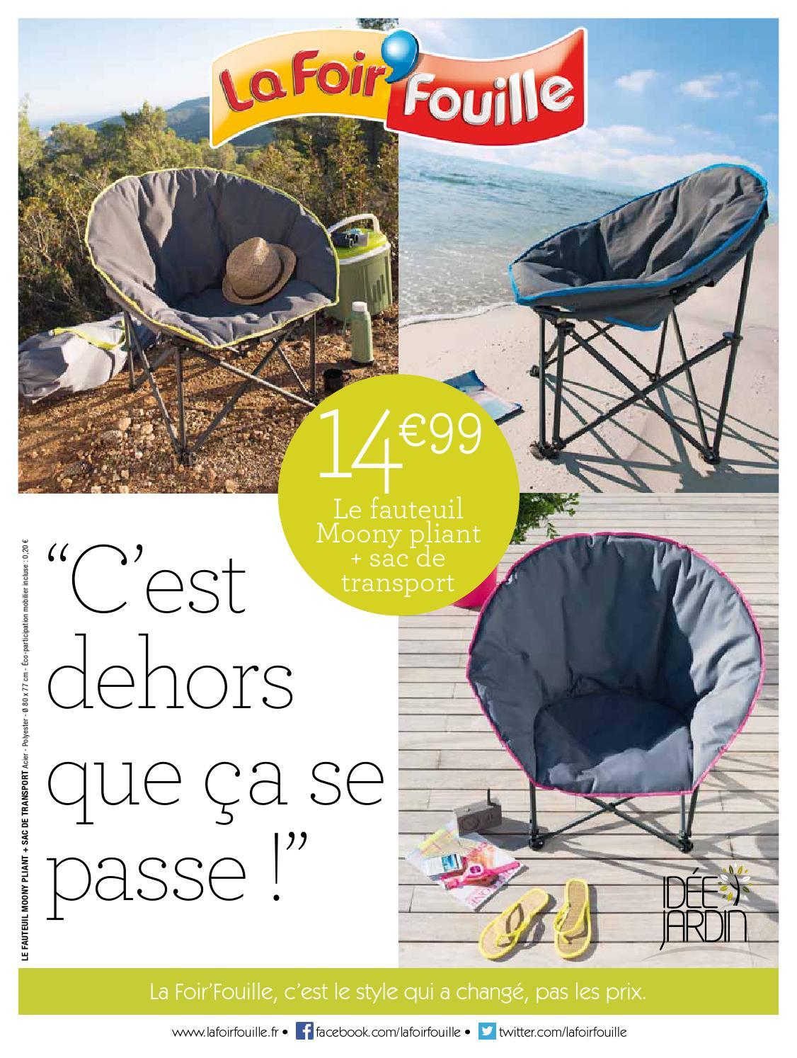 Catalogue La Foir Fouille - C'est Dehors Que Ça Se Passe! By ... intérieur Foir Fouille Salon De Jardin