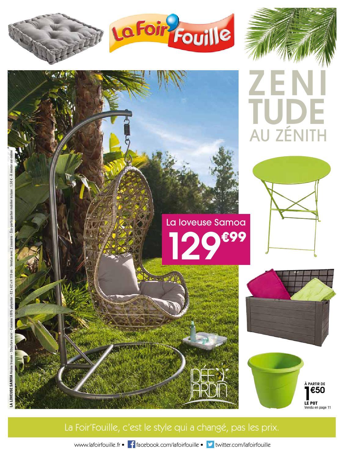 Catalogue La Foir Fouille - Zenitude Au Zénith By Joe Monroe ... concernant Salon De Jardin La Foir Fouille