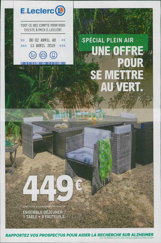 Catalogue Leclerc Du 02 Au 13 Avril 2019 (Jardin ... pour Table Et Chaises De Jardin Leclerc