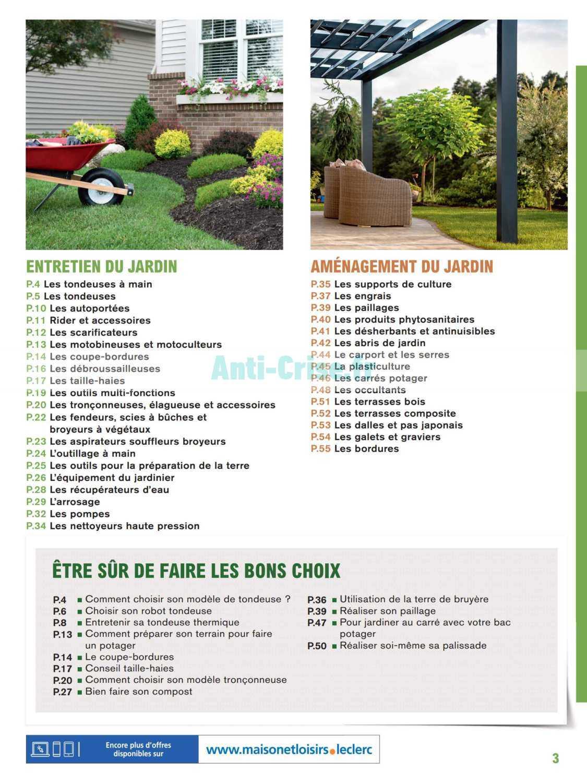 Catalogue Leclerc Du 20 Février Au 31 Décembre 2020 (Jardin ... intérieur Tondeuse Leclerc Jardin