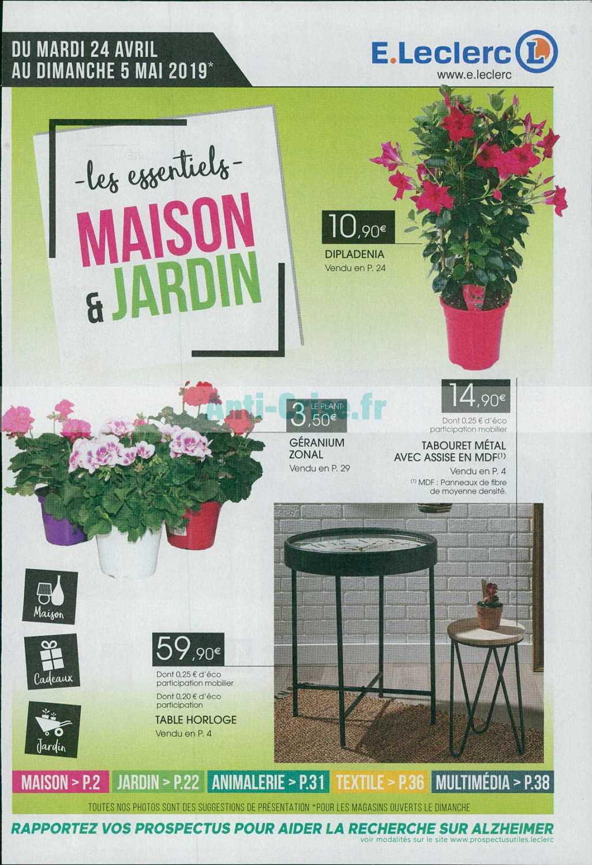 Catalogue Leclerc Du 24 Avril Au 05 Mai 2019 (Maison ... destiné Table De Jardin Magasin Leclerc