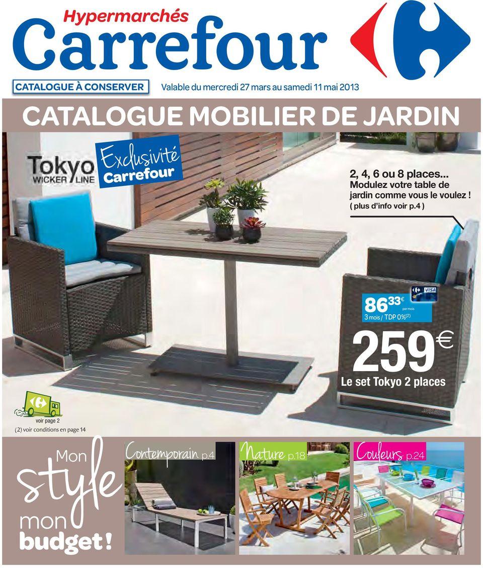 Catalogue Mobilier De Jardin - Pdf Téléchargement Gratuit concernant Salon De Jardin Resine Carrefour