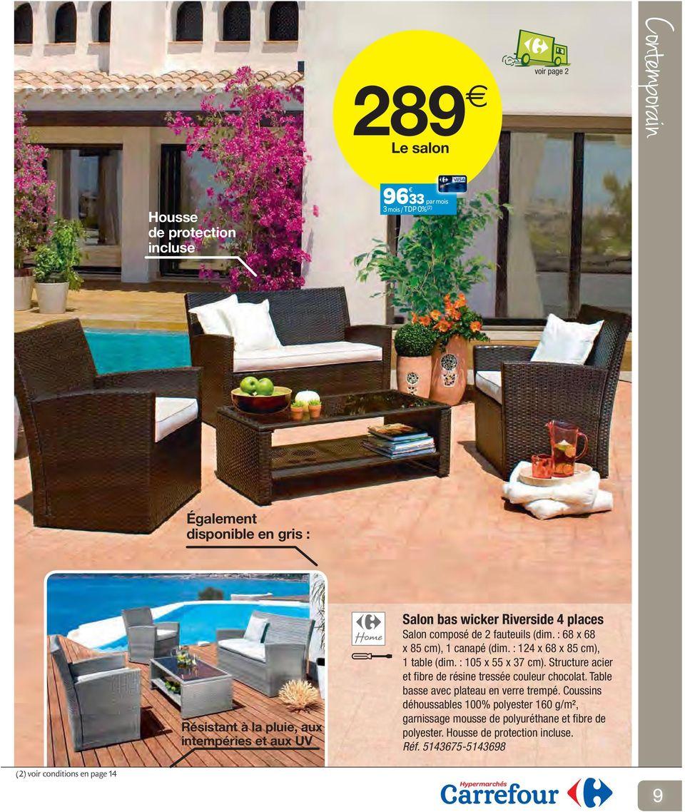 Catalogue Mobilier De Jardin - Pdf Téléchargement Gratuit serapportantà Salon De Jardin Resine Carrefour