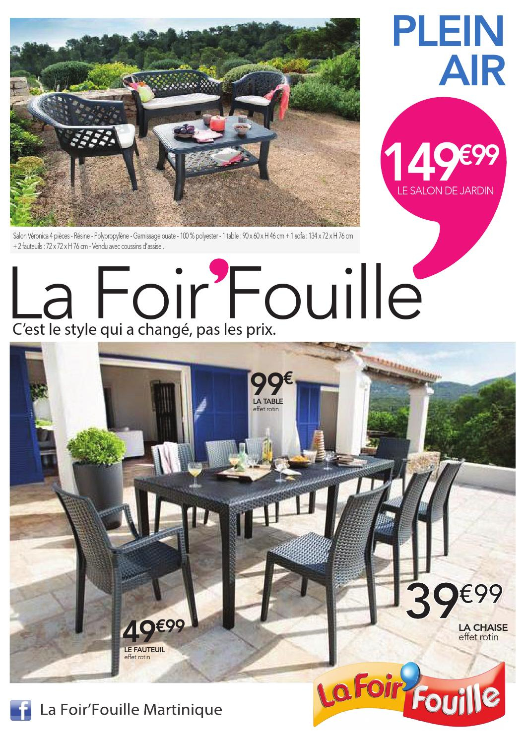 Catalogue Plein Air By La Foir'fouille - Issuu tout Salon De Jardin La Foir Fouille