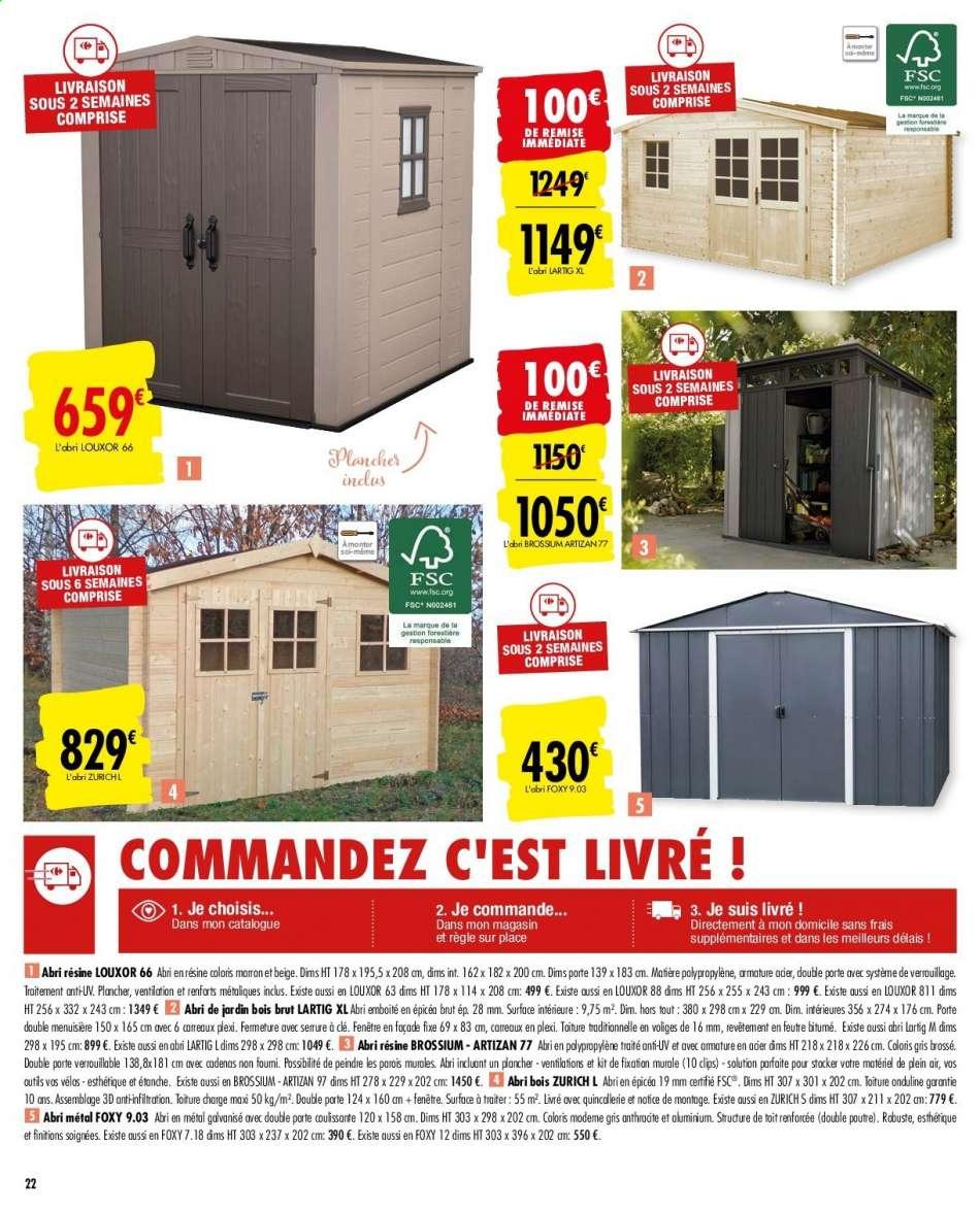 Catalogue, Prospectus, Pub Carrefour 25.02.2020 - 16.03.2020 ... avec Abris De Jardin Carrefour
