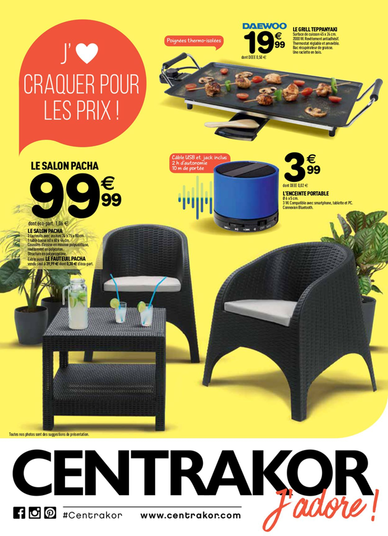Centrakor Catalogue Actuel 01.07 - 14.07.2019 - Catalogue-24 avec Salon De Jardin Centrakor