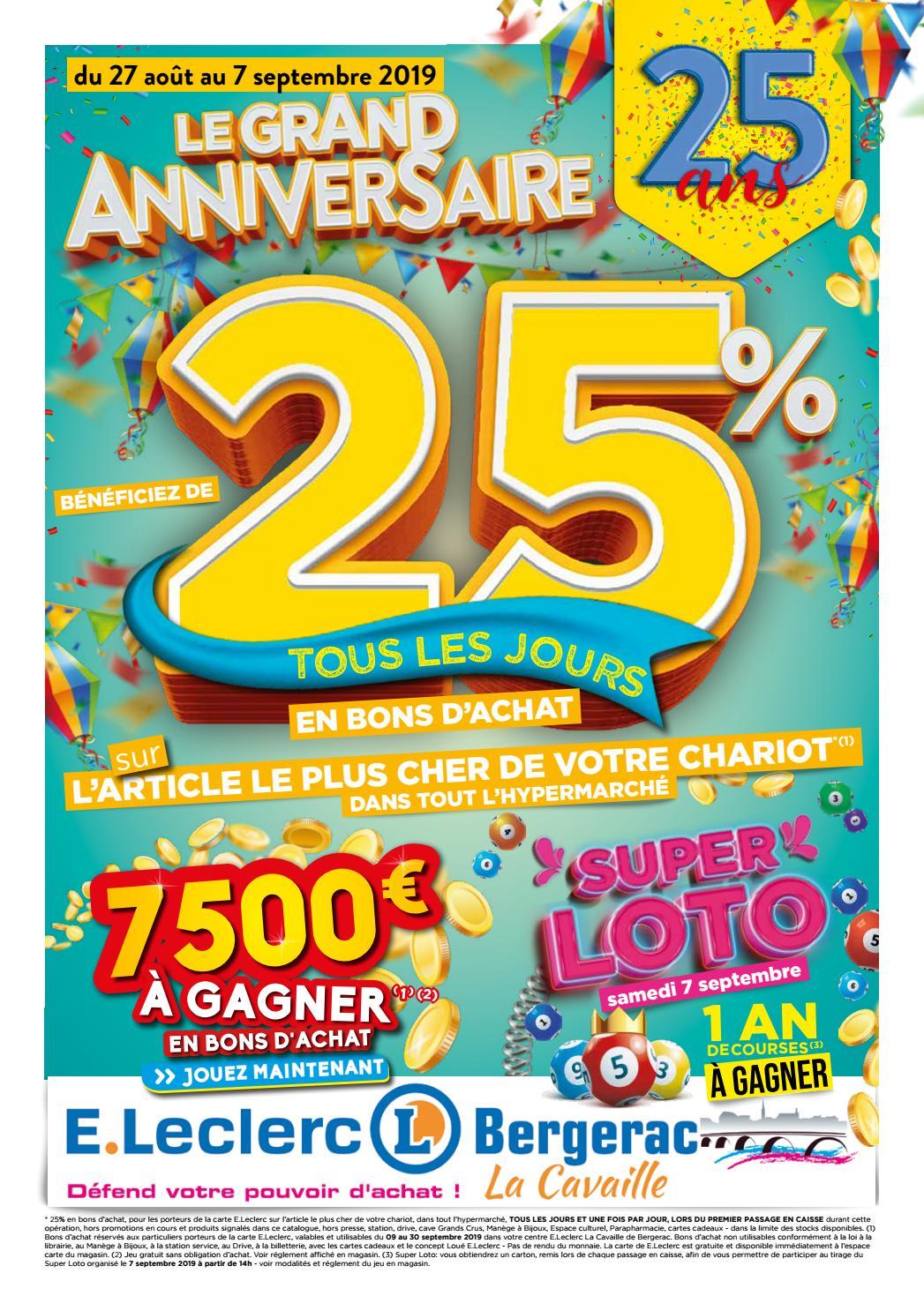 Centre E.leclerc De Bergerac - Anniversaire 25 Ans By ... encequiconcerne Table De Jardin Magasin Leclerc
