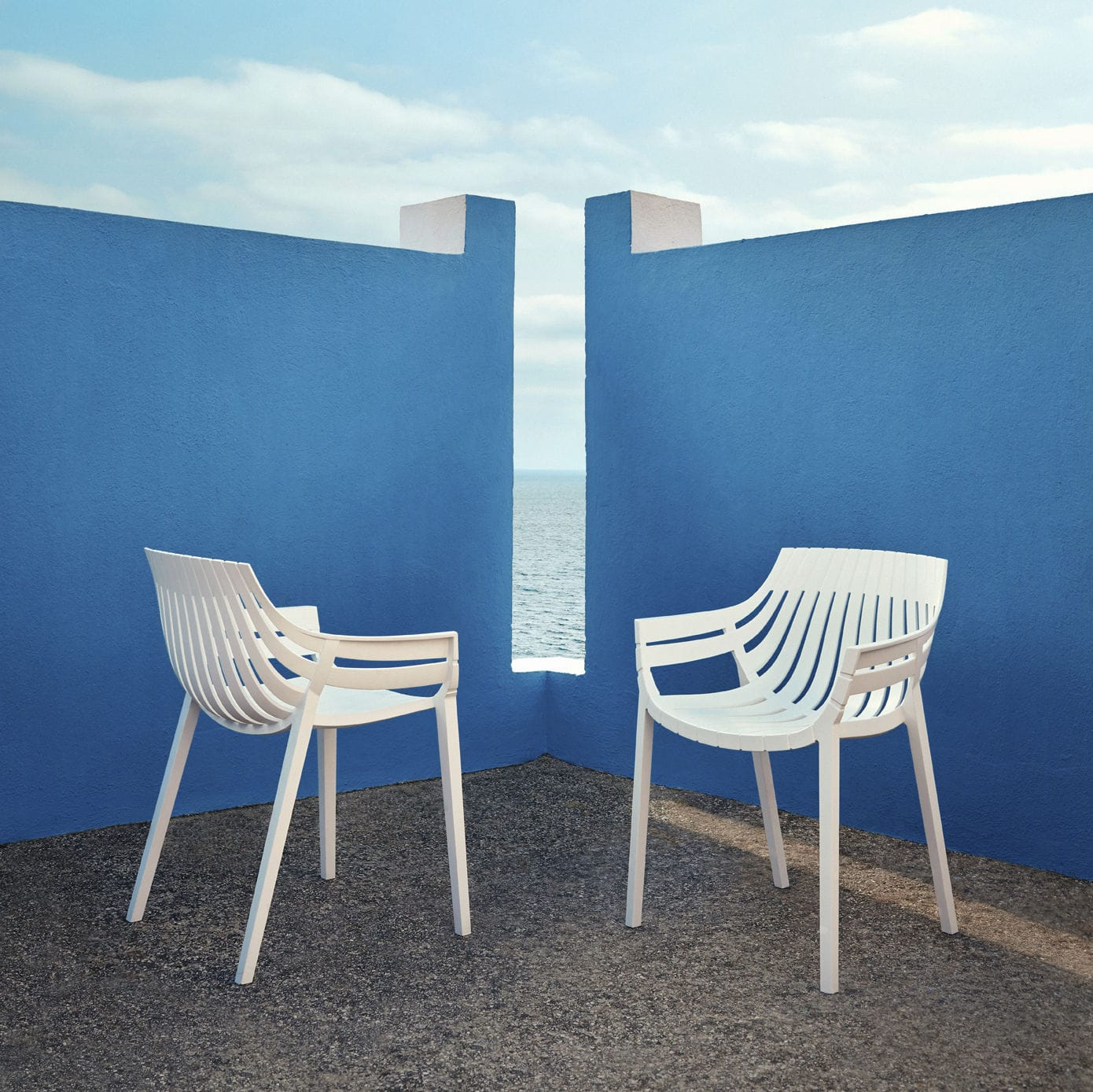 Chaise De Jardin Contemporaine / Empilable / En ... intérieur Salon De Jardin Polypropylène