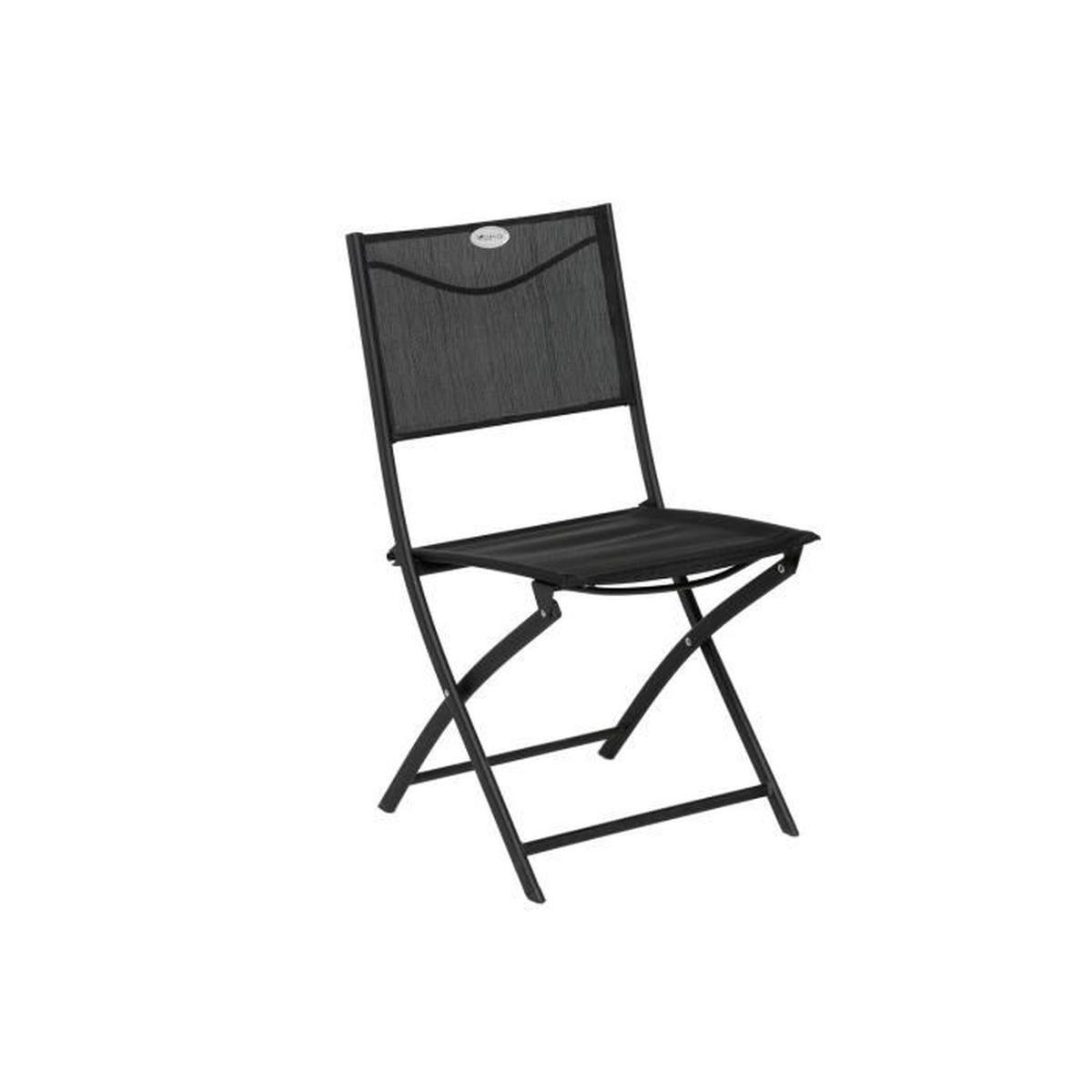 Chaise Pliante Les Compatibles - Noir - Achat / Vente ... pour Chaise De Jardin Hesperide