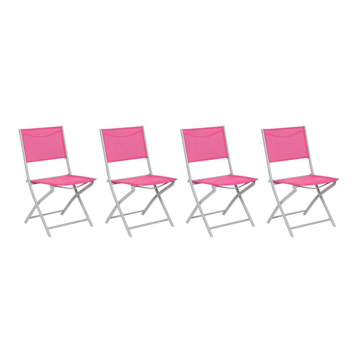 Chaise Pliante Modula Hesperide Framboise/graphite Chaises ... pour Chaise De Jardin Hesperide