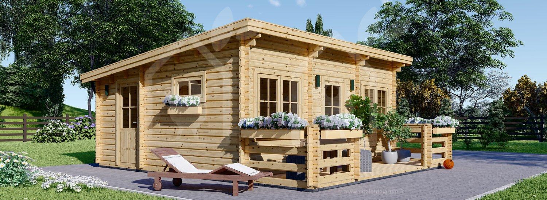 Chalet En Bois À Toit Plat Alto (44 Mm), 31M² + 8 M² Terrasse destiné Abri De Jardin 30M2