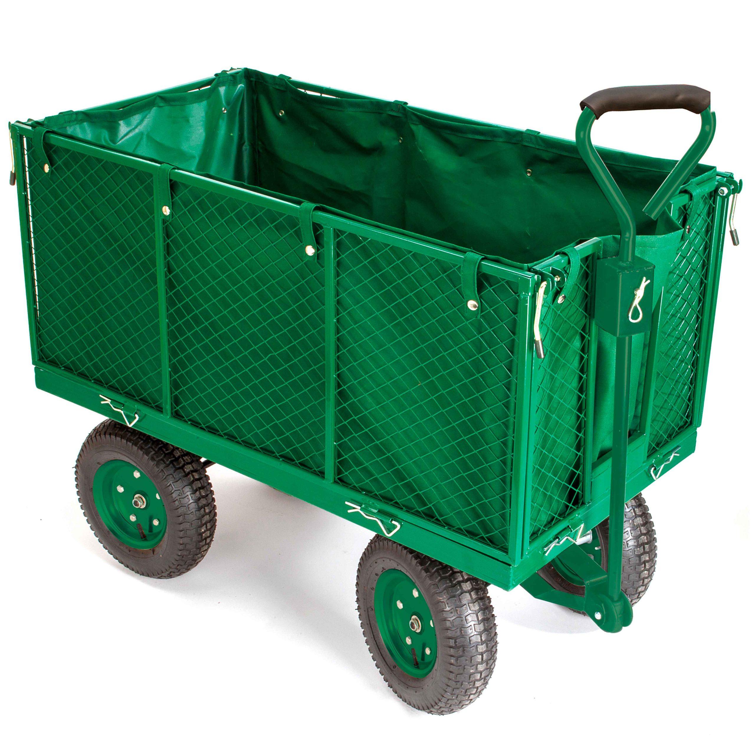 Chariot De Jardin Bâché Grillagé 4 Roues pour Chariot De Jardin 4 Roues