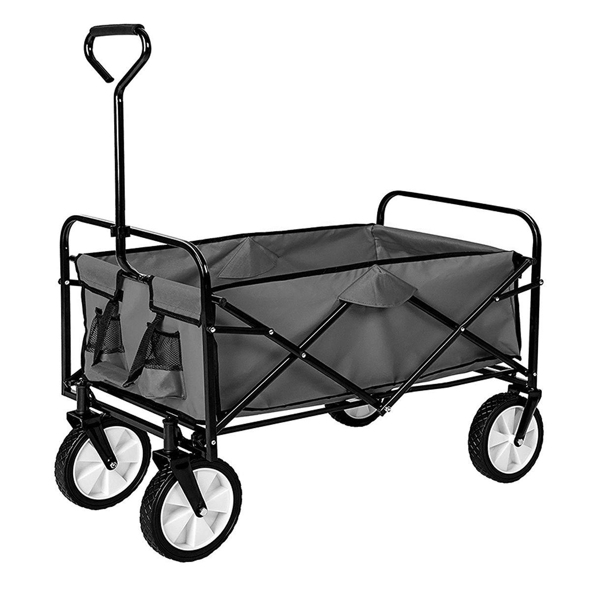 Chariot De Jardin Pliable - Remorque À Main 4 Roues ... avec Chariot De Jardin 4 Roues