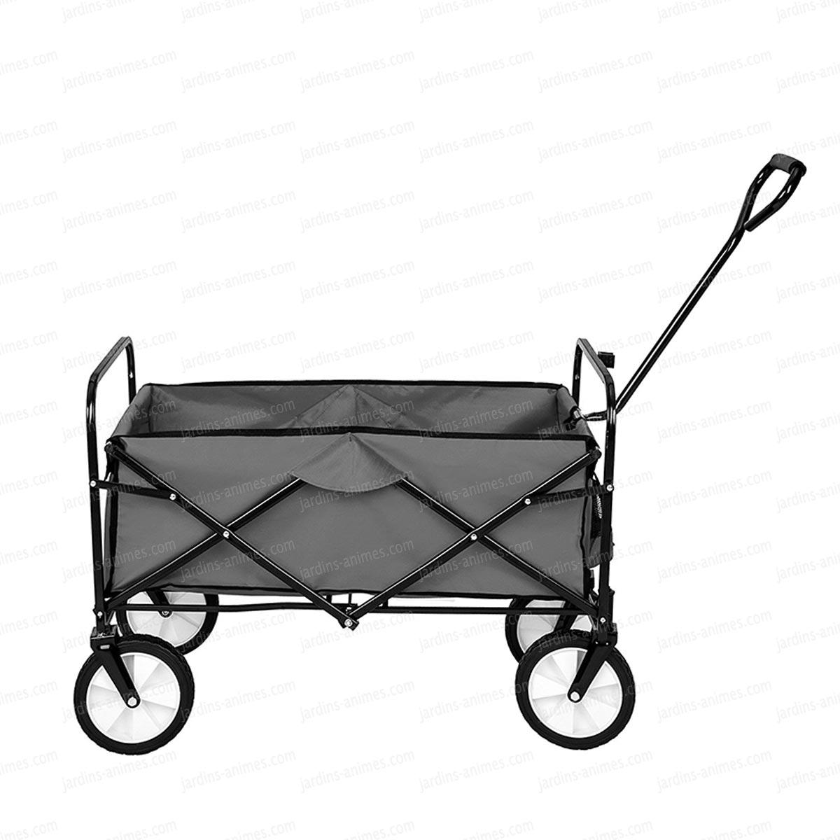 Chariot De Jardin Pliable - Remorque À Main 4 Roues dedans Chariot De Jardin 4 Roues