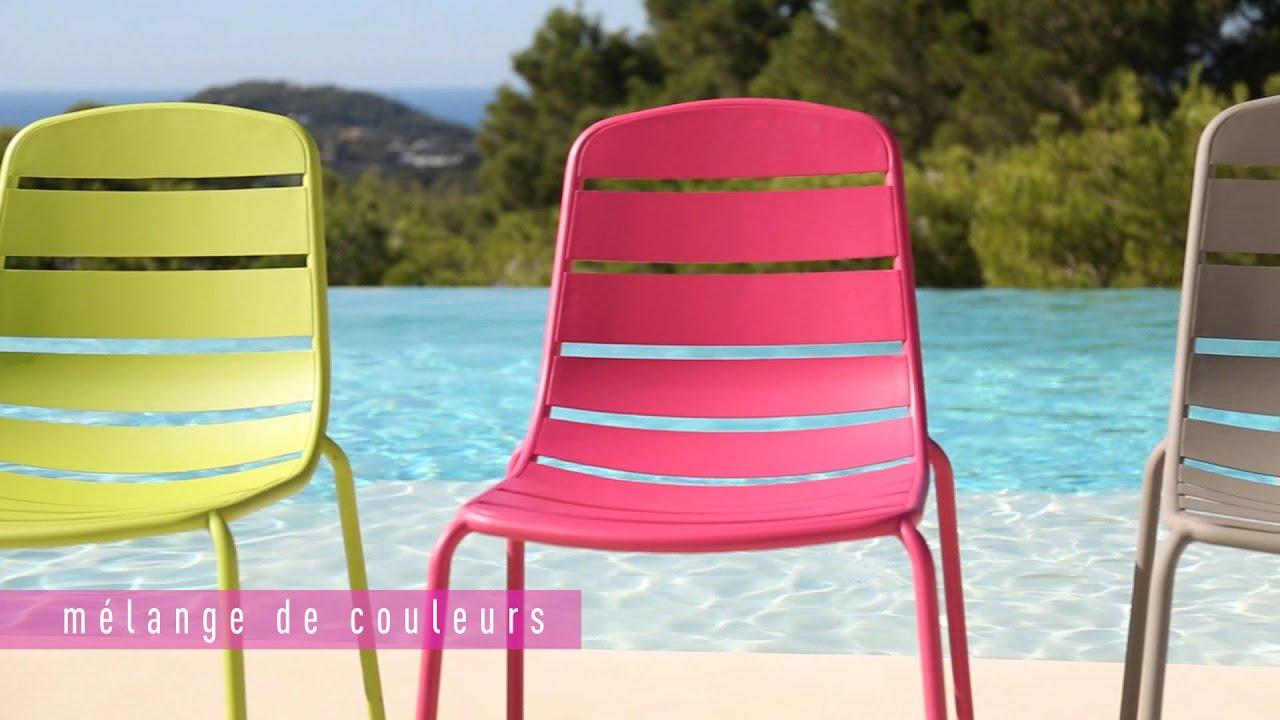 Collection Mobilier De Jardin 2016 Hyba Chez Carrefour : La Ligne Acier 151 destiné Salon De Jardin Resine Carrefour