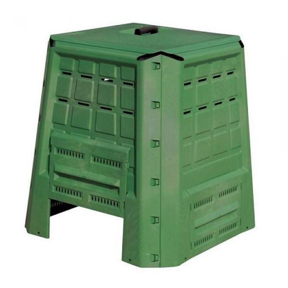 Composteur De Jardin En Plastique 370L 80X80Xh84 Cm Compost Déchets  Organiques serapportantà Composteur De Jardin