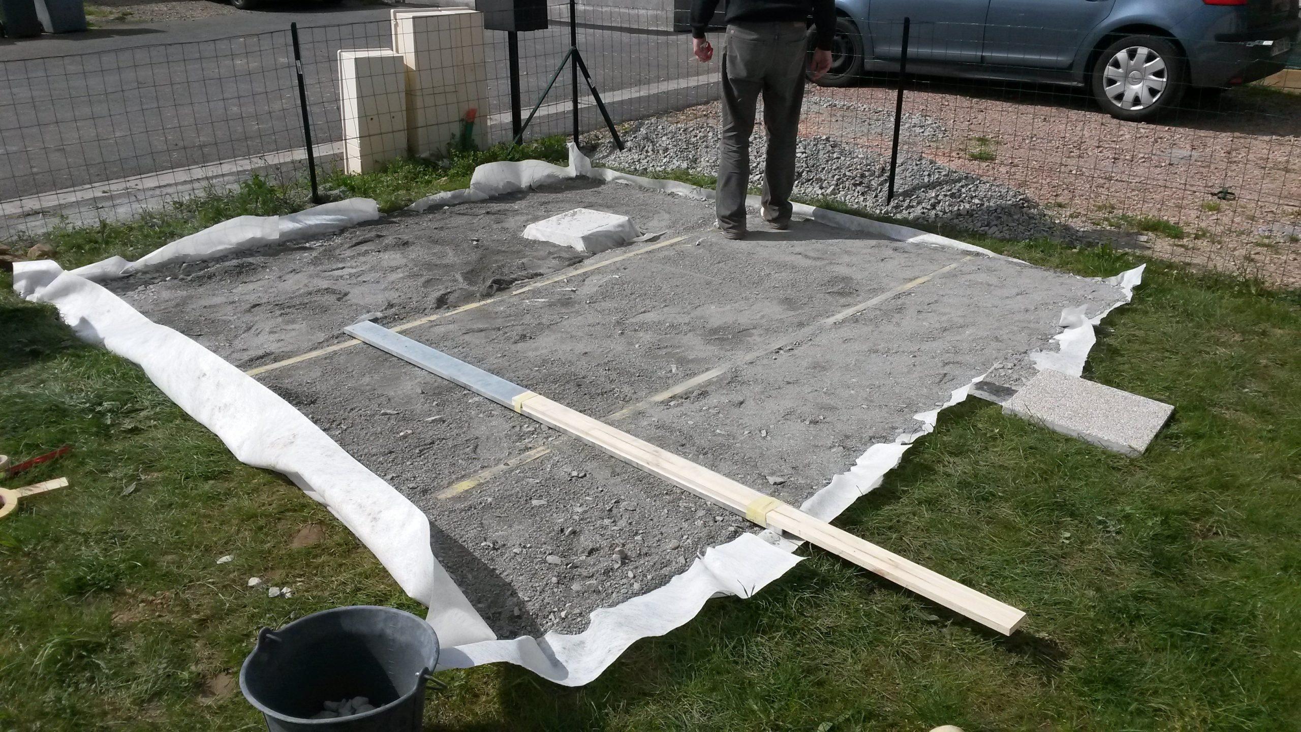 Construction De Notre Dalle Pour Abri De Jardin ... avec Fondation Abri De Jardin
