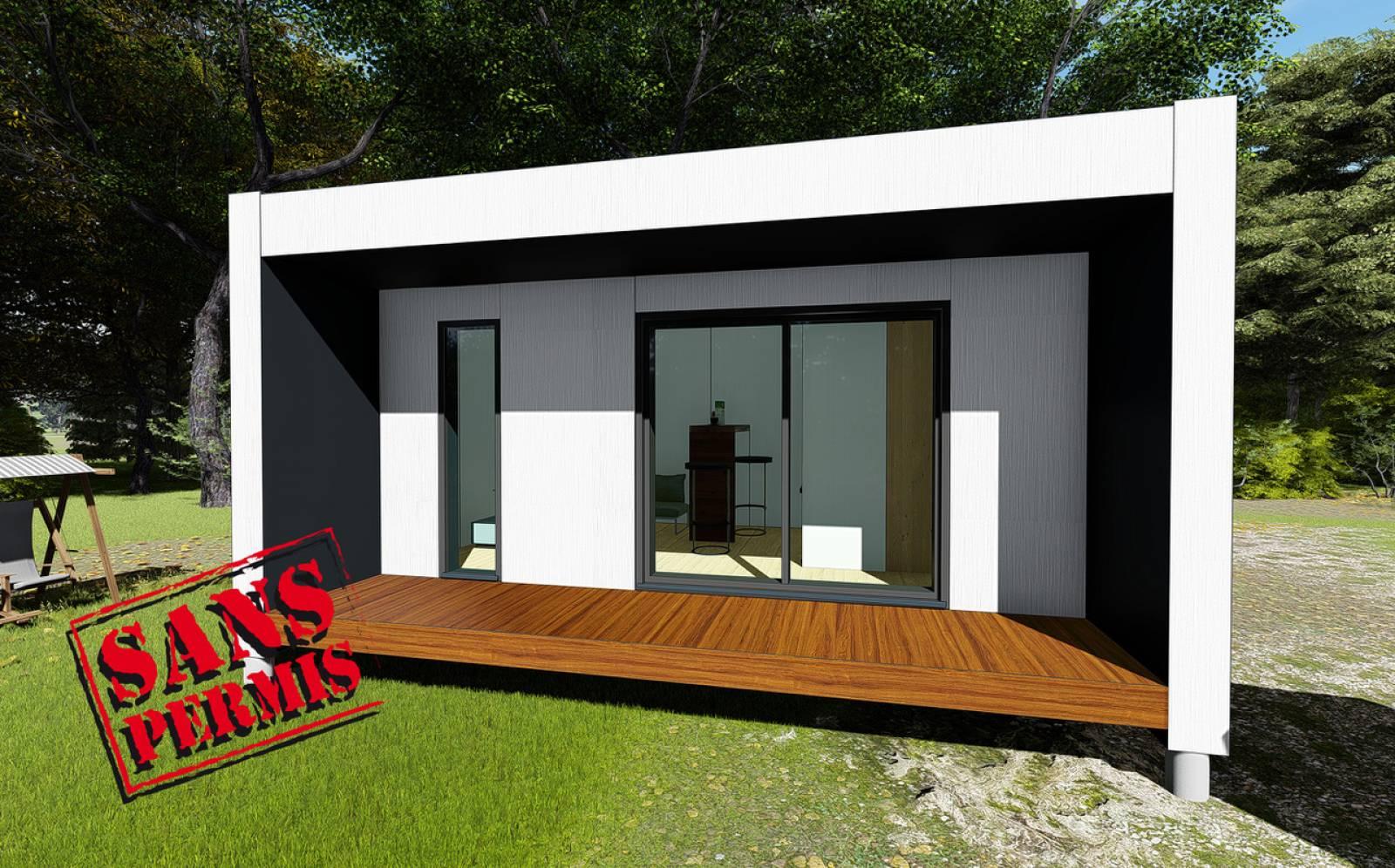 Construction De Studios En Bois Sans Permis De Construire À ... destiné Abri De Jardin 30M2