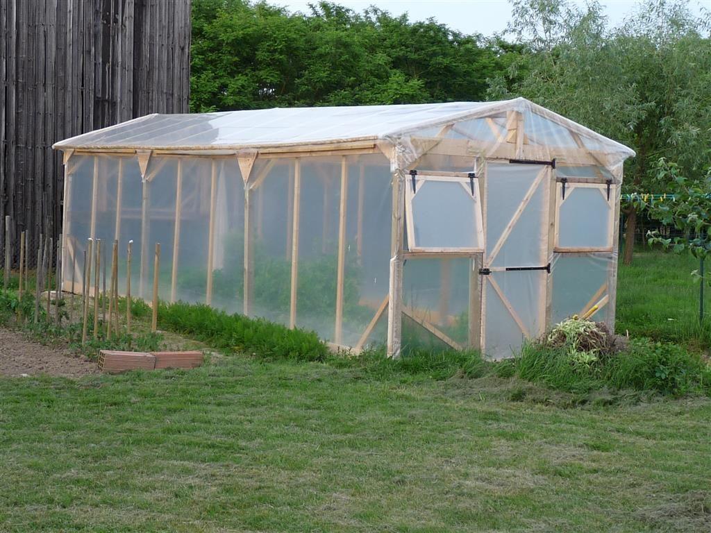 Construire Une Serre De Jardin En Bois - Retour D'expérience ... tout Serre De Jardin Pas Chere