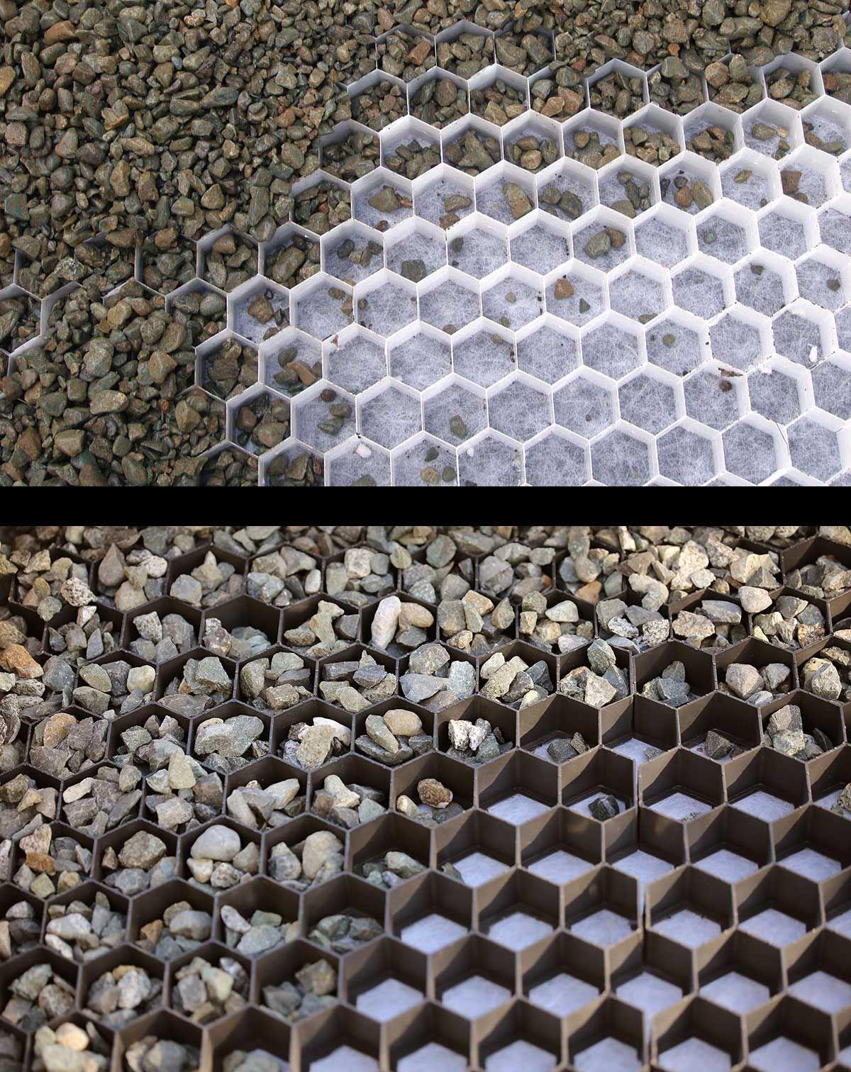 Core Gravel Grids Are Available In Black Or White ... serapportantà Geotextile Jardin