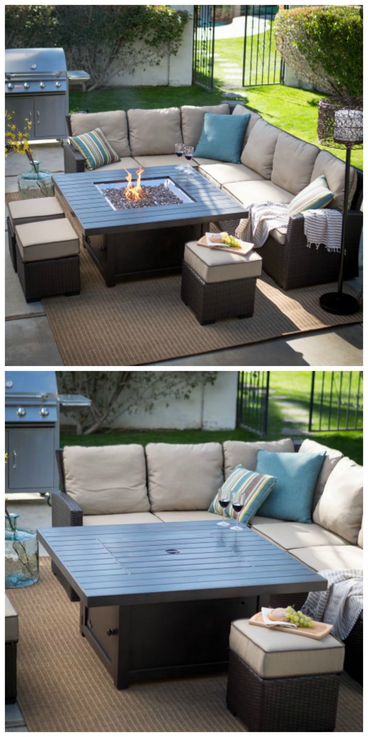 Could Go Well On The Loft Deck. The Table Is Pretty Cool ... serapportantà Salon De Jardin En Pierre