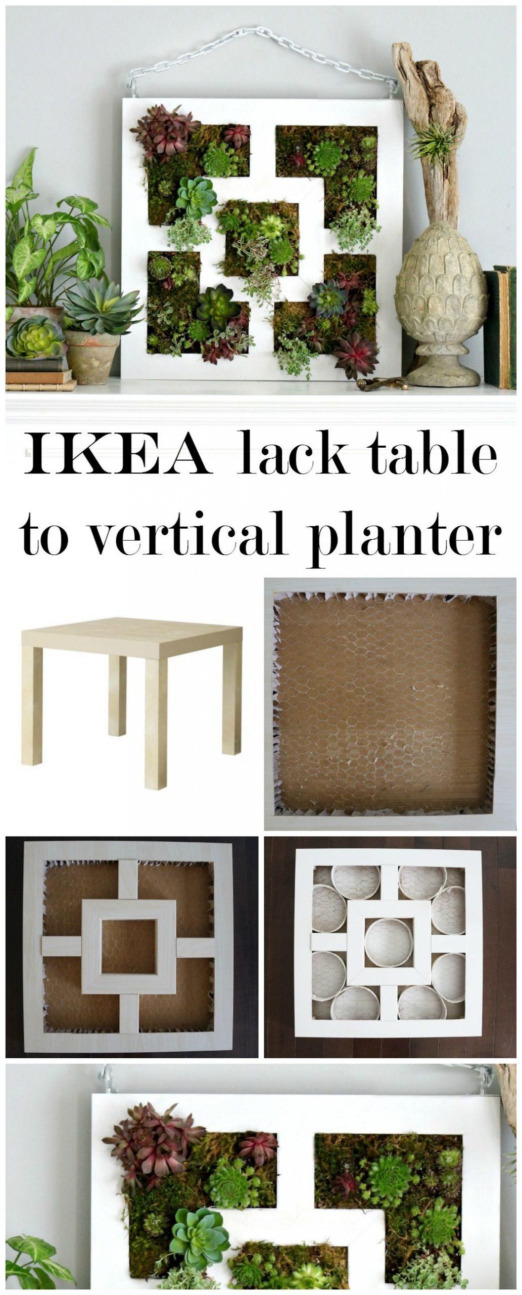 Craftberry Bush | Ikea Lack Table Hack To Succulent Vertical ... tout Table Basse De Jardin Ikea
