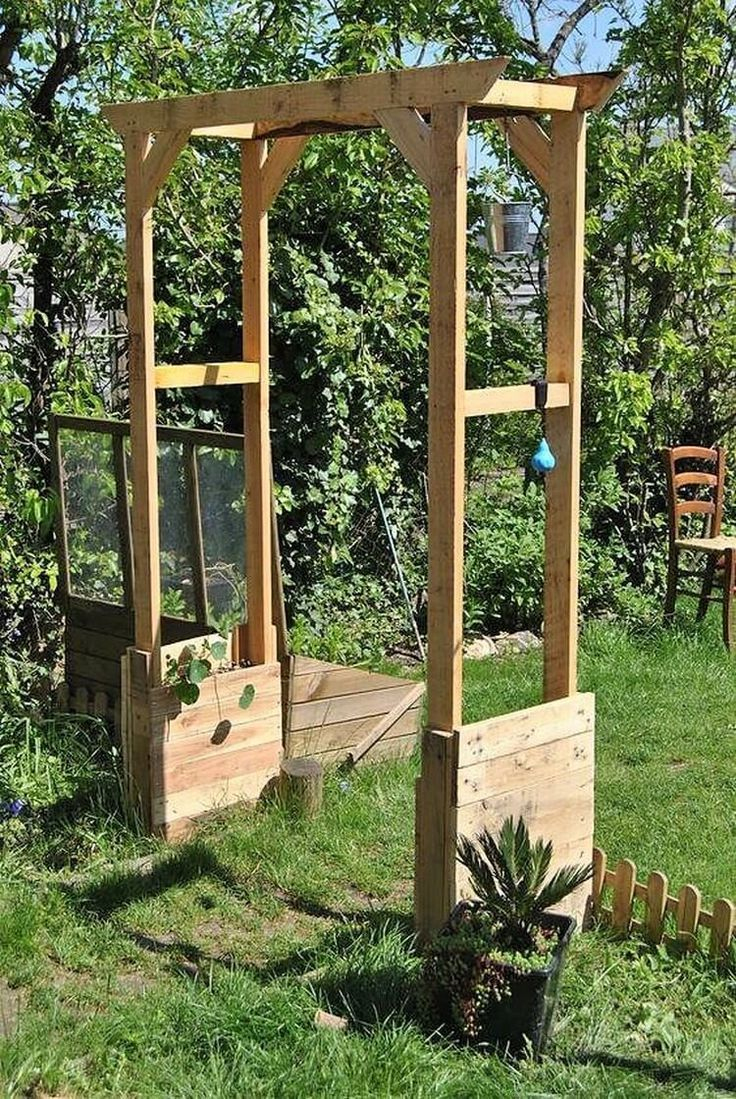 Creative Ideas For Recycling Wooden Pallets En 2020 | Arche ... pour Tonelle De Jardin