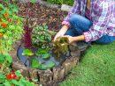 Créer Un Mini-Bassin En 2 Heures Chrono Dans Votre Jardin ... destiné Plante Bassin De Jardin