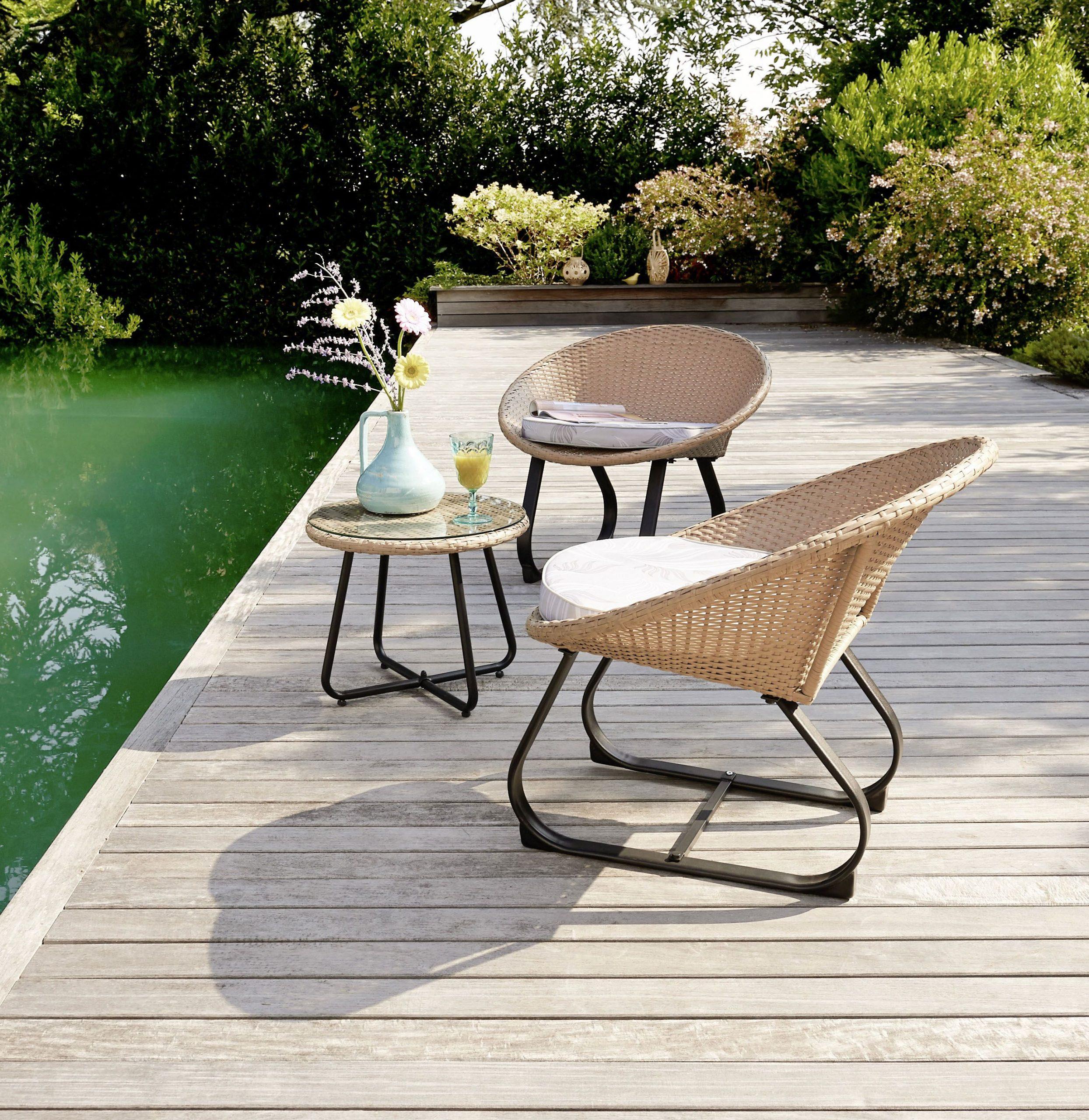 Créez Un Espace Détente Et Cosy Avec Notre Set De 3 Pièces ... pour Intermarché Table De Jardin