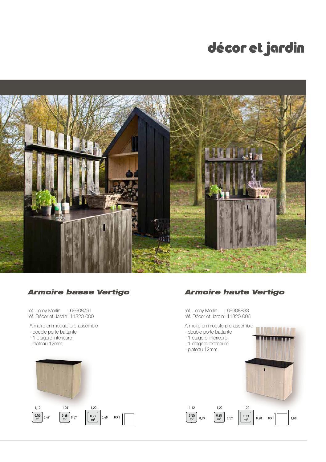 Décor Et Jardin Catalogue Leroy Merlin By Cras Woodgroup - Issuu encequiconcerne Armoire Jardin Leroy Merlin