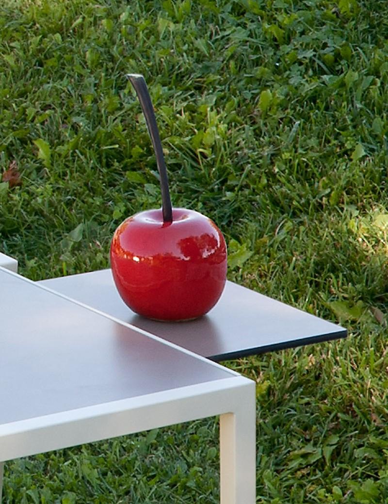 Desserte De Jardin Pour Table Haute Empilable Taupe Curvilis ... intérieur Vente Privée Jardin