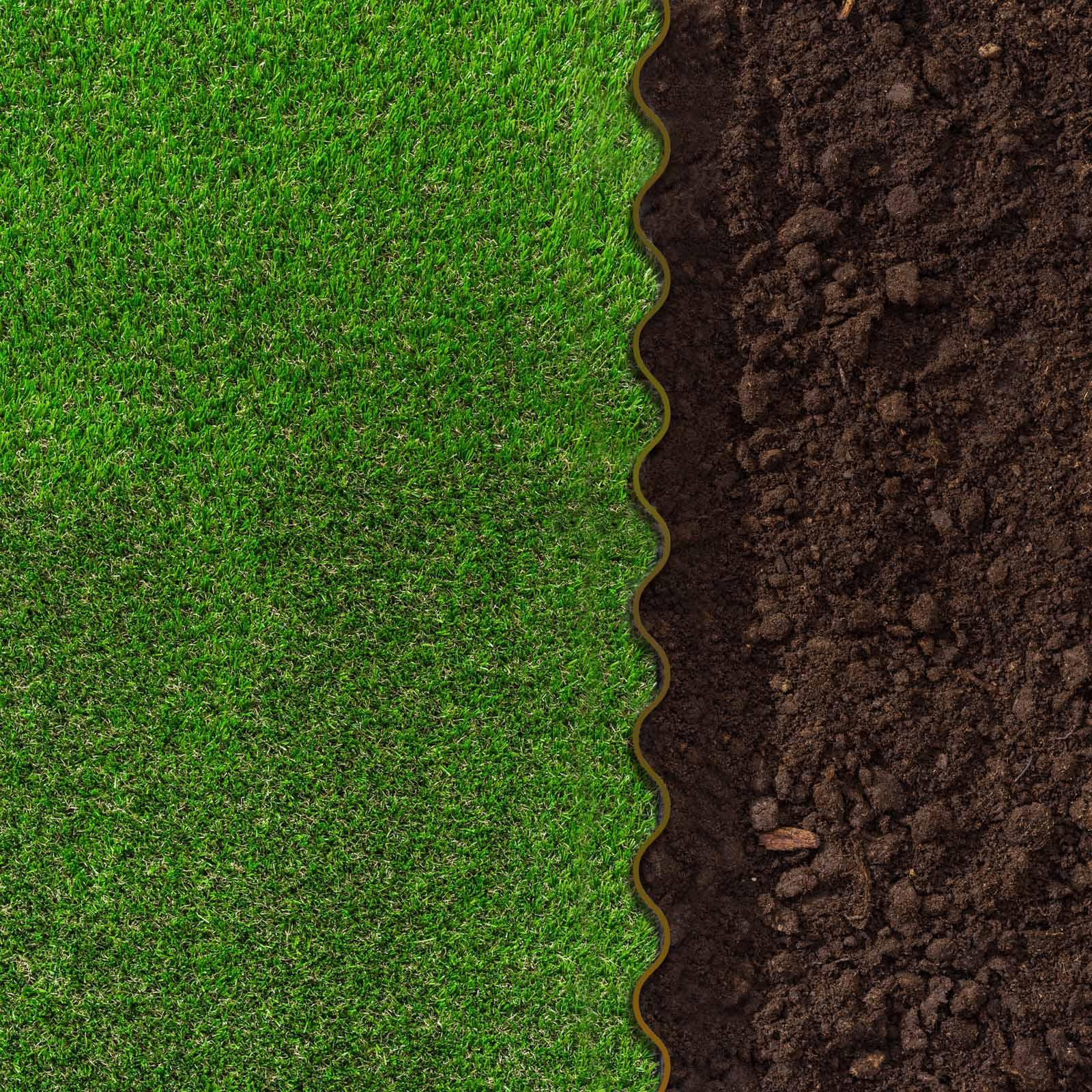 Détails Sur 1.83€/m Bordure À Dérouler Jardin Marron 20Cm Longueur 9M  Délimitation Plateband avec Delimitation Jardin