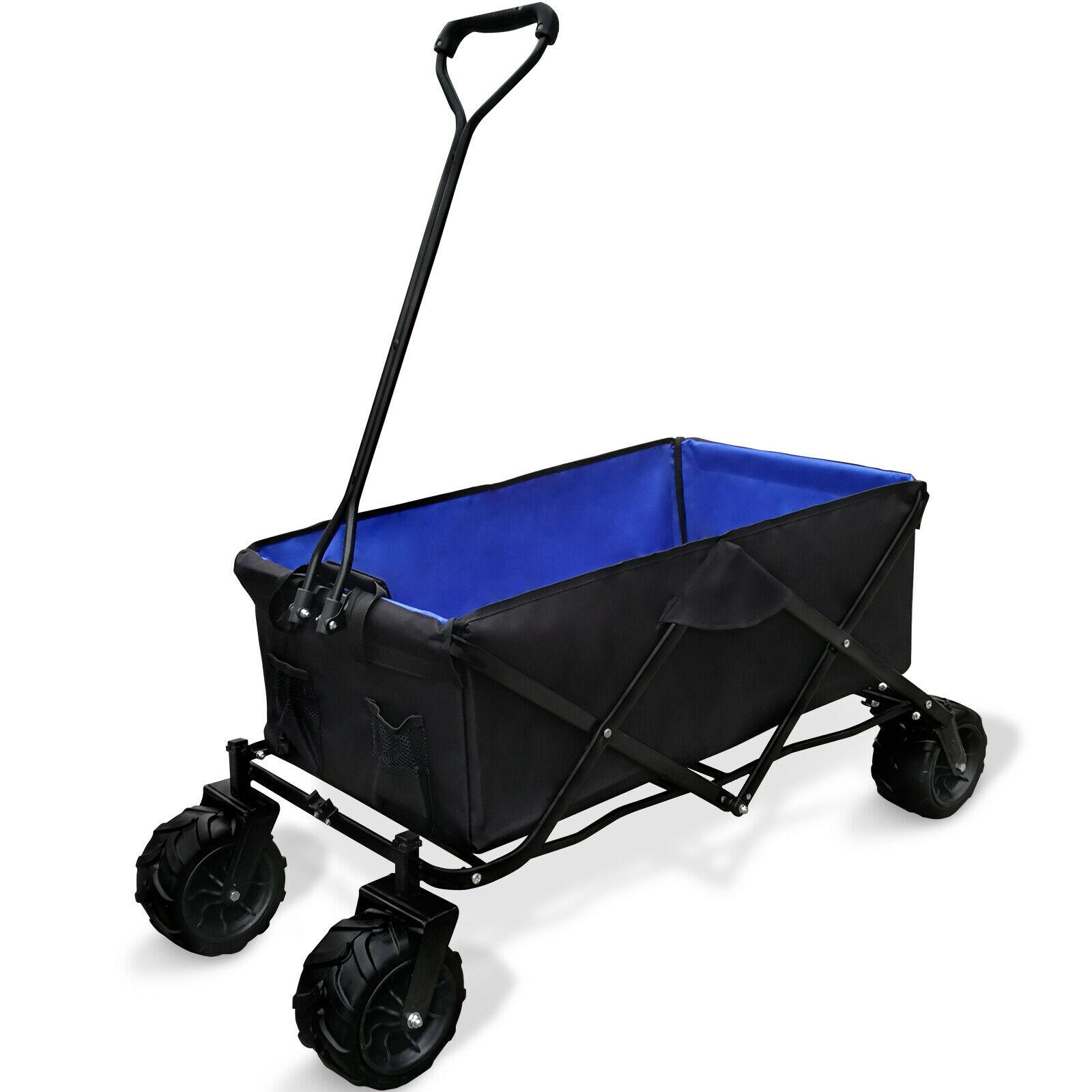 Détails Sur Chariot De Transport Charette Remorque Jardin Pliable Avec Roues tout Chariot De Jardin 4 Roues