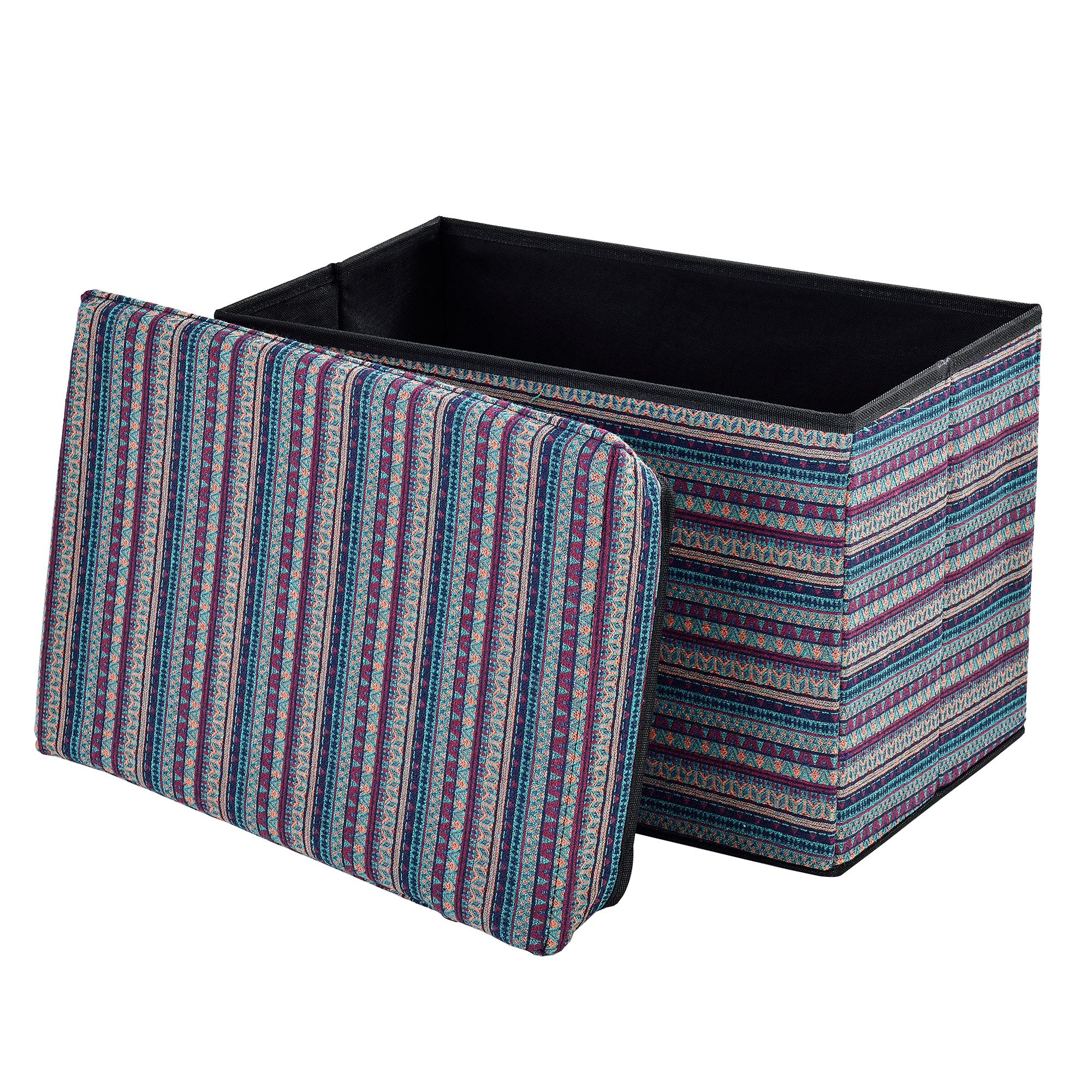 Détails Sur [En.casa] Banc De Rangement 48X32X32Cm Multicolore Porte-Pieds à Banc De Jardin Ikea