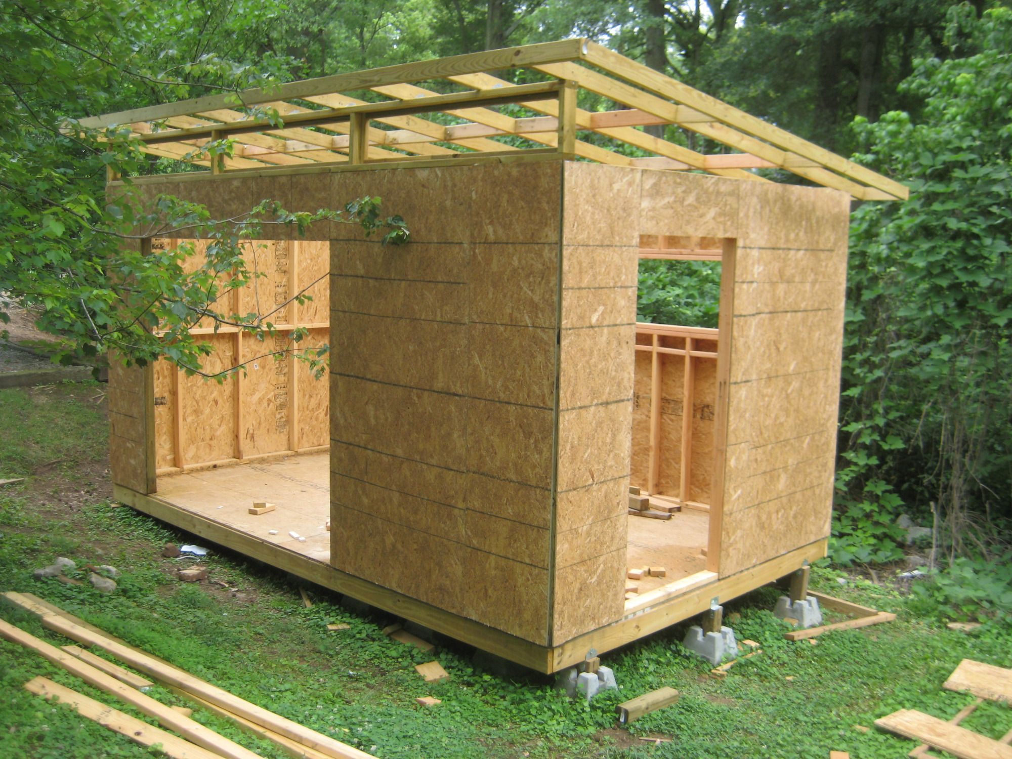 Diy Modern Shed Project | Diyatlantamodern | Plan Abris De ... à Plan Cabane De Jardin
