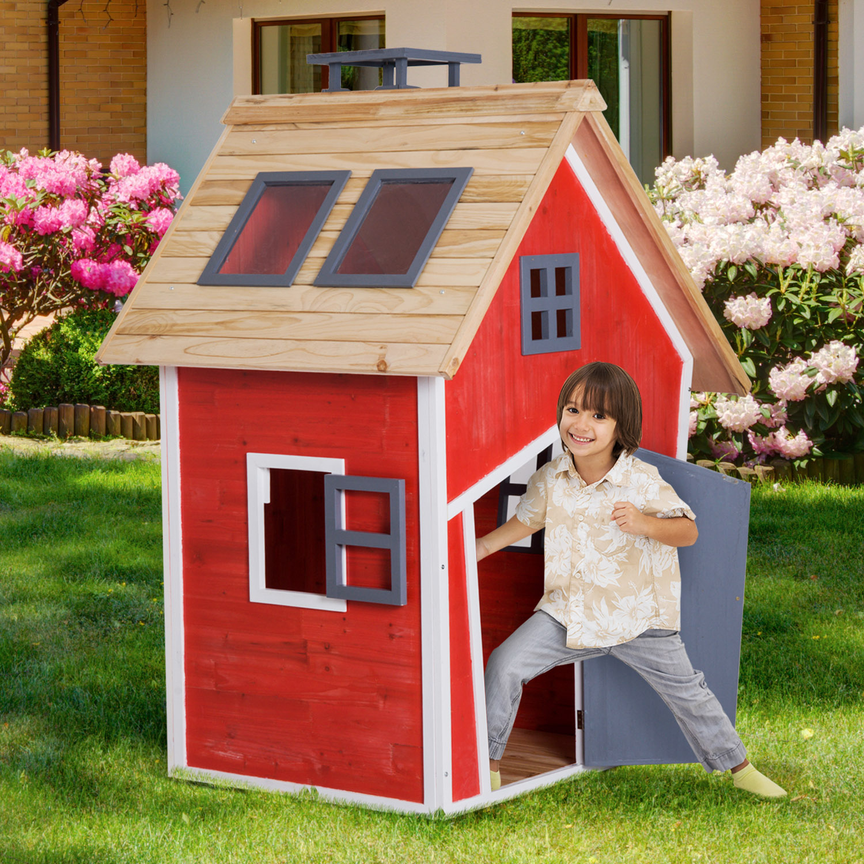 €239,90 Homcom Maison De Jardin Jouet 1,2 X 1,02 1,57 M ... tout Maison Jardin Jouet