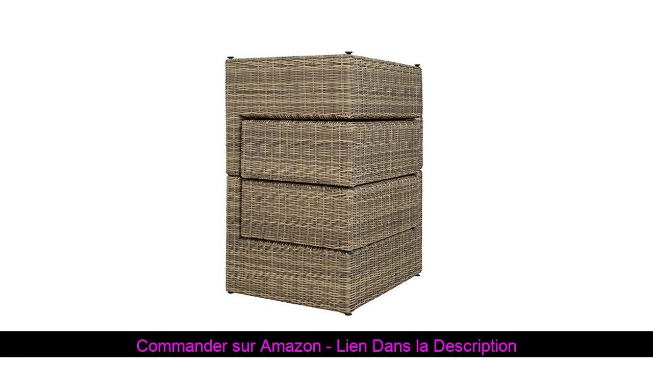 ☄️ Tectake 800694 Bain De Soleil Modulable En Canapé De Jardin 4 Places En  Résine Tressée Et Alumin pour Amazon Salon De Jardin En Resine Tressee