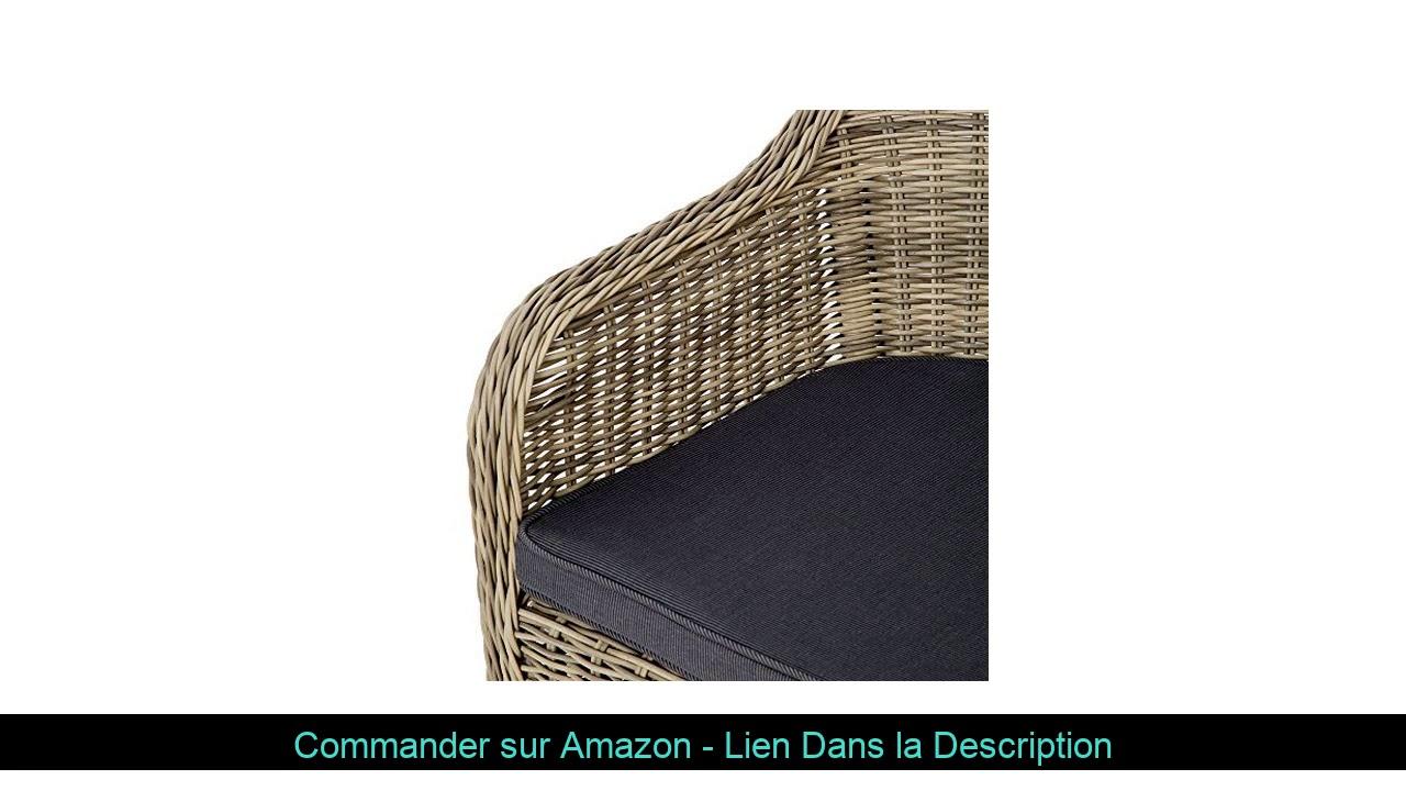 ⚡️ Tectake Salon De Jardin En Haute Qualité Cadre En Aluminium 4X Chaise 1X  Table Résine Tressée Po concernant Amazon Salon De Jardin En Resine Tressee