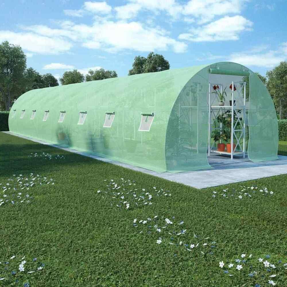 Ebay #sponsored Vidaxl Serre Avec Fondation Acier ... à Fondation Abri De Jardin