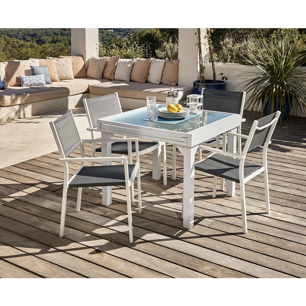 Ensemble De Jardin Oslow Table + 4 Chaises destiné Ensemble Table Et Chaise De Jardin Pas Cher