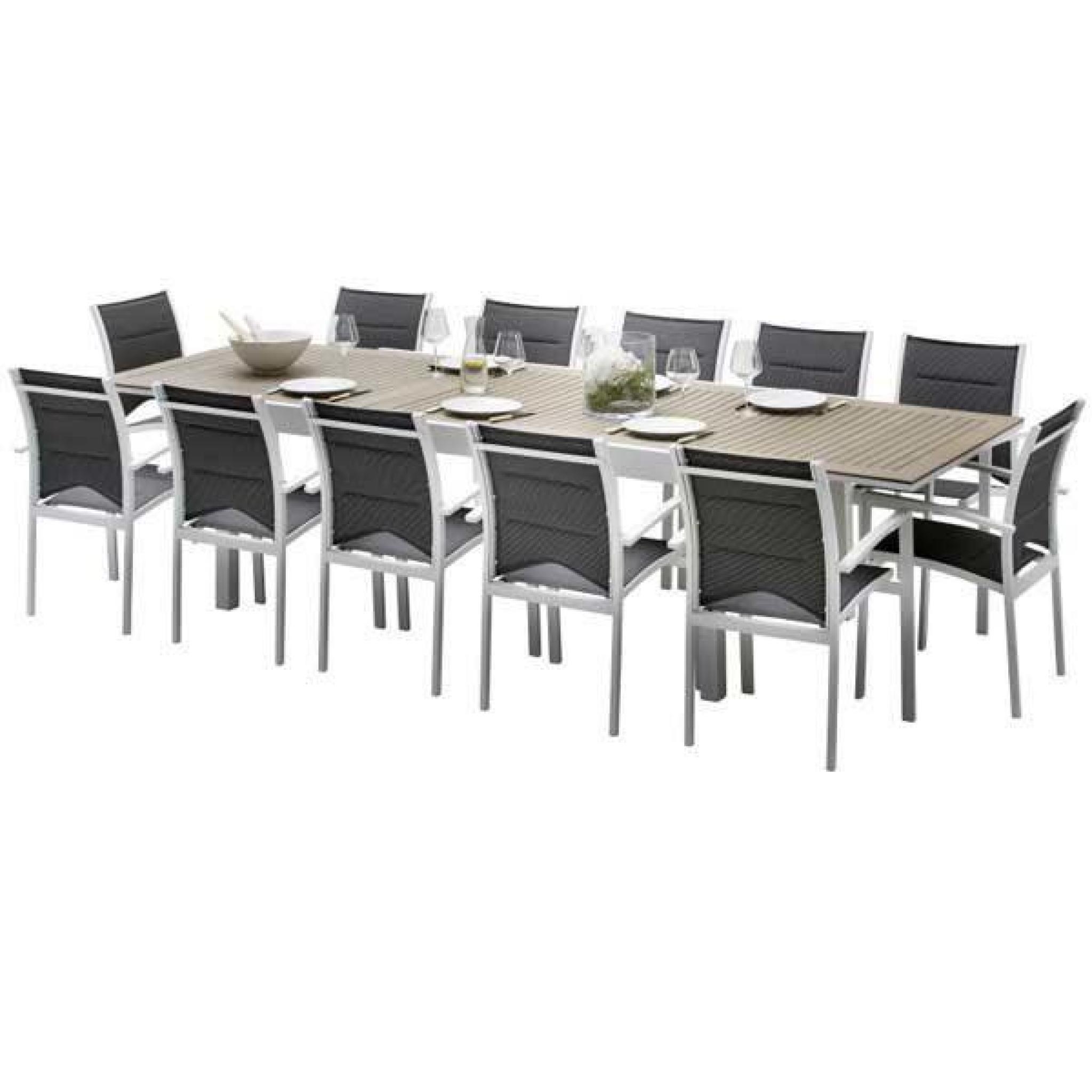 Ensemble De Table Et Chaises De Jardin Lattées Polywood Modulo 10 Places  Polywood destiné Table Et Chaises De Jardin Pas Cher