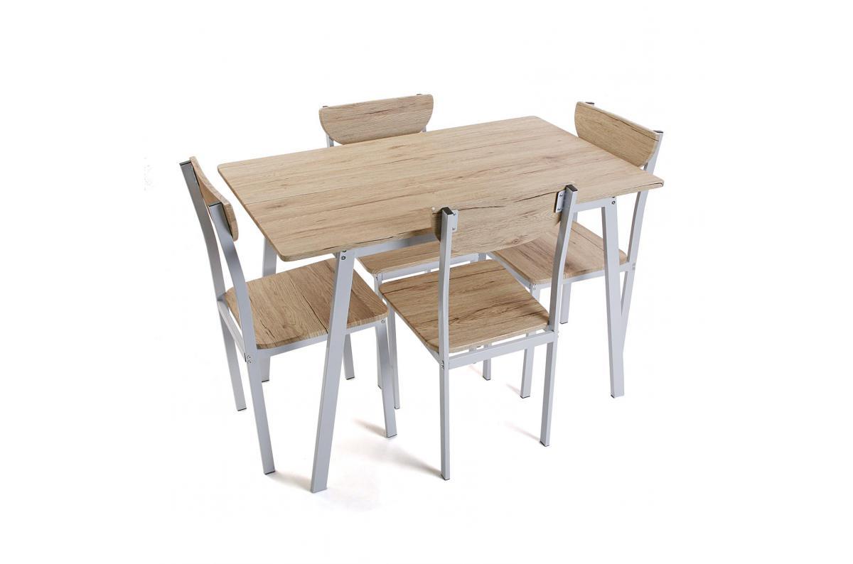 Ensemble Table + 4 Chaises Bois Boon Plus D's destiné Ensemble Table Et Chaise De Jardin Pas Cher