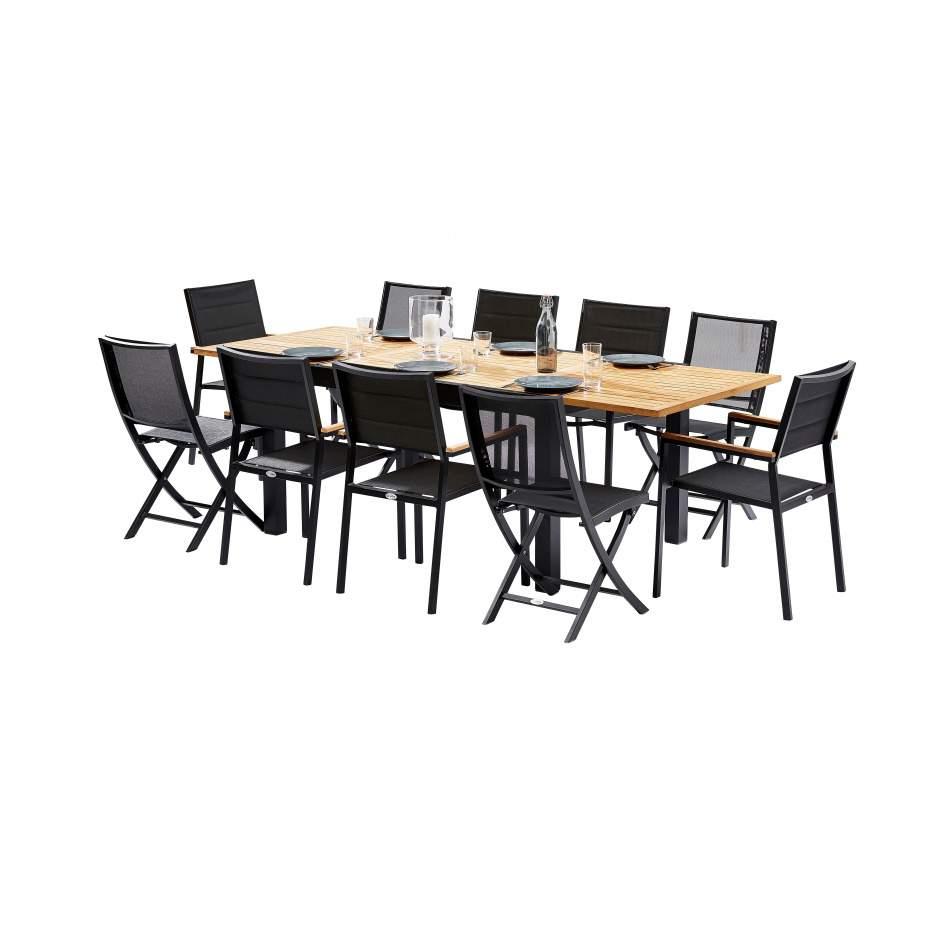 Ensemble Table En Teck Pour 10 Personnes destiné Table Jardin 10 Personnes