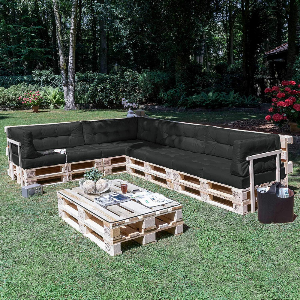 Envie D'un Salon De Jardin Unique Et Confortable ? Des ... concernant Coussin Pour Salon De Jardin En Palette