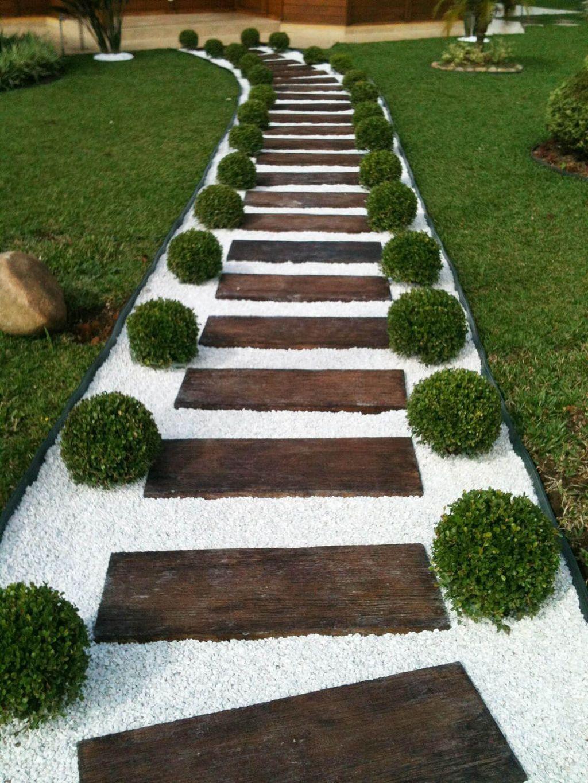 Épinglé Par Khalil Sur Aménagement Extérieur | Jardins ... encequiconcerne Jardin Avec Galets Blancs