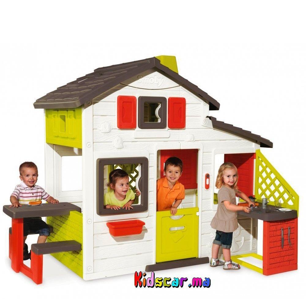 Épinglé Par Kidscar.ma Sur Kidscar.ma : Jeux Jouets Plein ... concernant Maison De Jardin Smoby