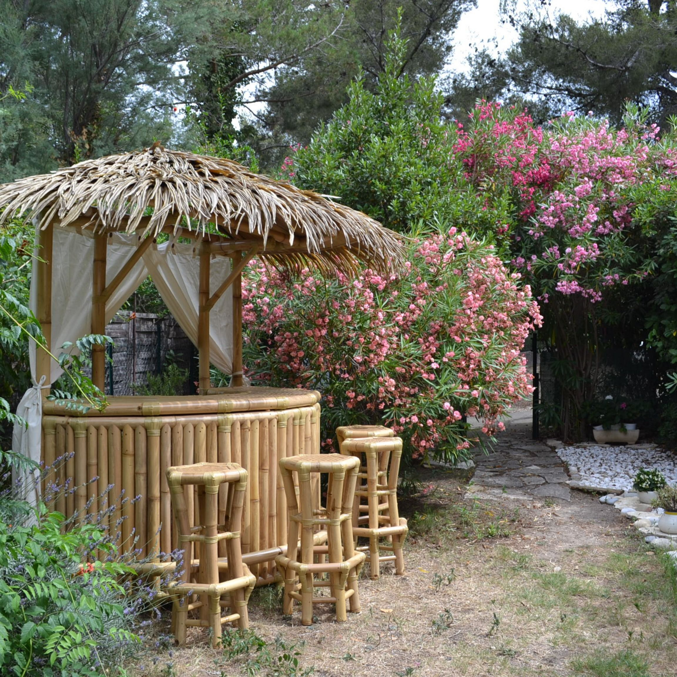 Épinglé Sur Gazebo Bambou, Paillote Bambou Et Bar En Bambou à Paillote Jardin