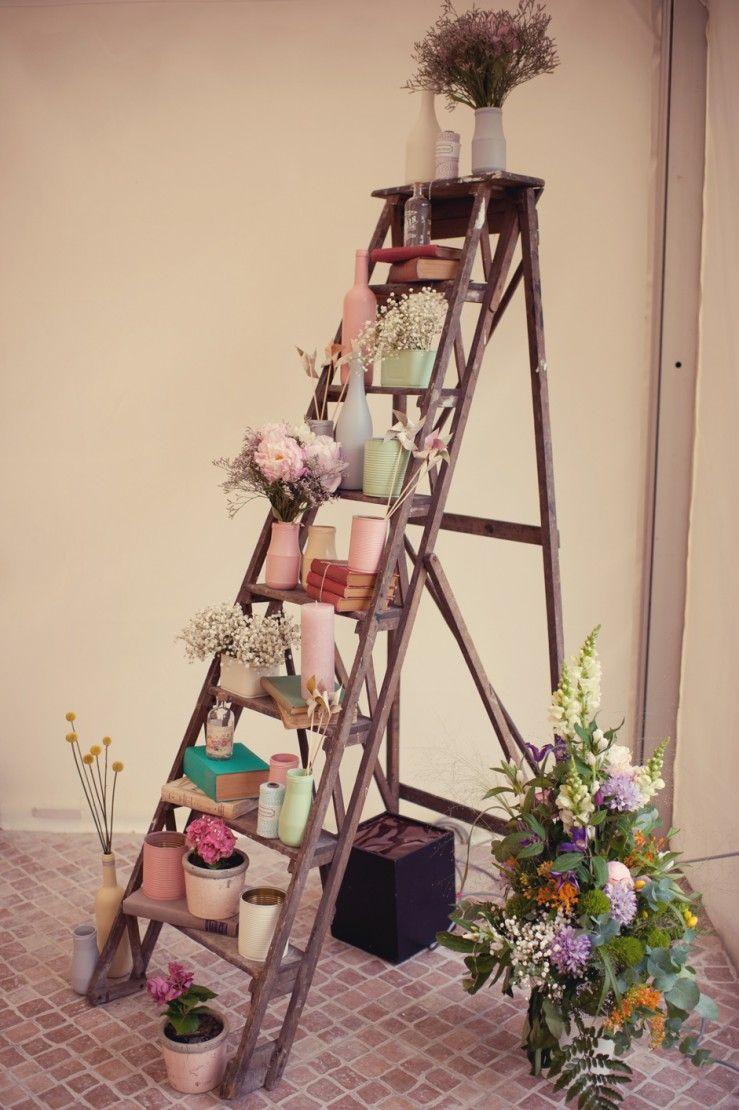 Escabeau Decore | Deco, Ambiance Deco Et Échelle Deco dedans Escabeau Jardin
