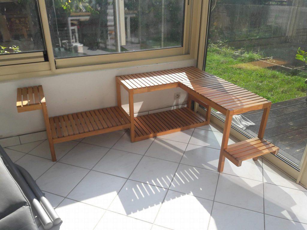 Etagère À Plantes Avec Molger destiné Banc De Jardin Ikea